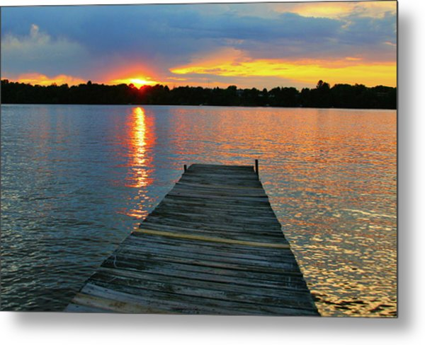 Evenings At The Cabin Metal Print