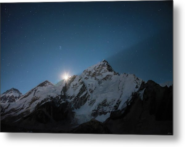 Metal Print featuring the photograph Everest Supermoon by Owen Weber