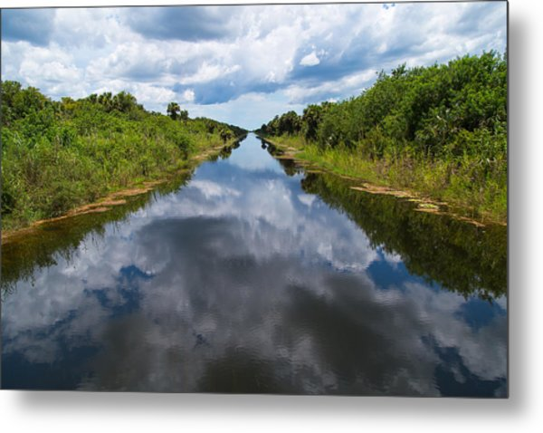 Everglades Canal Metal Print