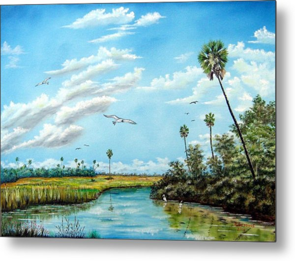 Everglades Inlet Metal Print by Riley Geddings