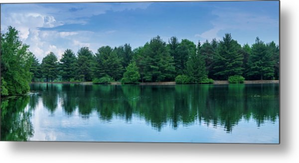 Evergreen Lake Reflections Metal Print