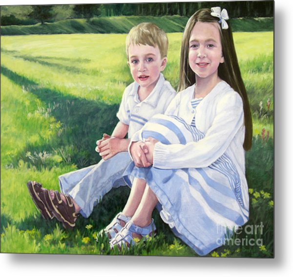 Evie And Kenneth Metal Print