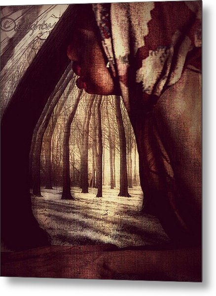 Metal Print featuring the digital art Evie Regrets by Delight Worthyn