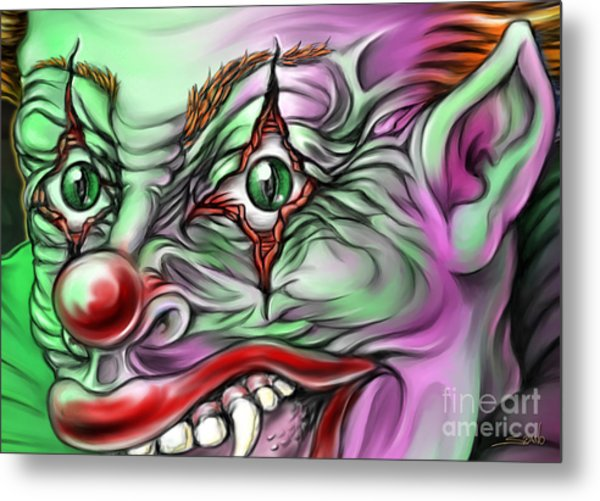 Evil Clown Eyes Metal Print