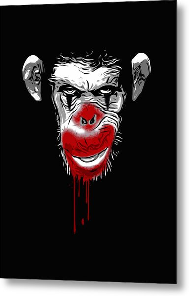 Evil Monkey Clown Metal Print