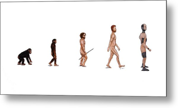 Evolution Of Rob Metal Print by Jennifer Lynch
