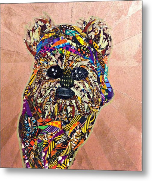 Ewok Star Wars Afrofuturist Collection Metal Print
