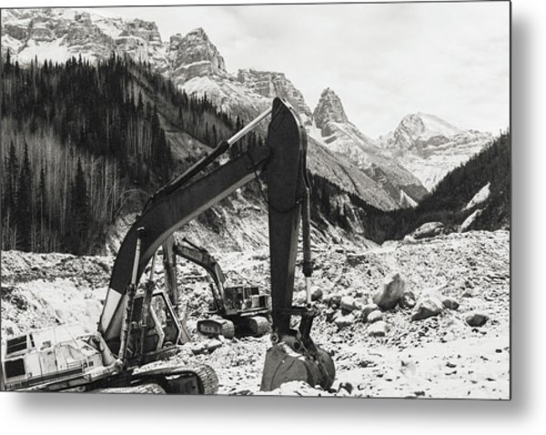 Metal Print featuring the photograph Excavators by Fred Denner