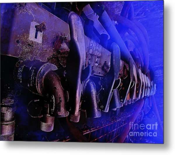 Exhaust And Oil Spickets Metal Print by The Stone Age