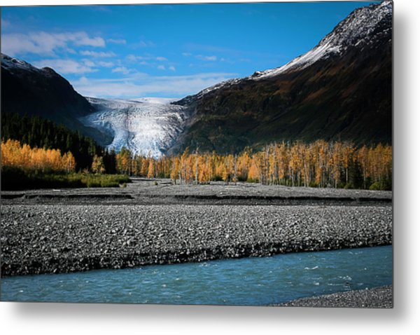 Exit Glacier Kenai Fjords National Park Metal Print