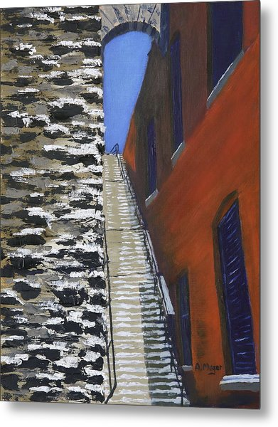 Exorcist Stairs In Winter Metal Print