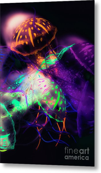 Exotic Rainbows Metal Print