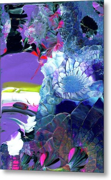 Exotic White Rose Island Metal Print