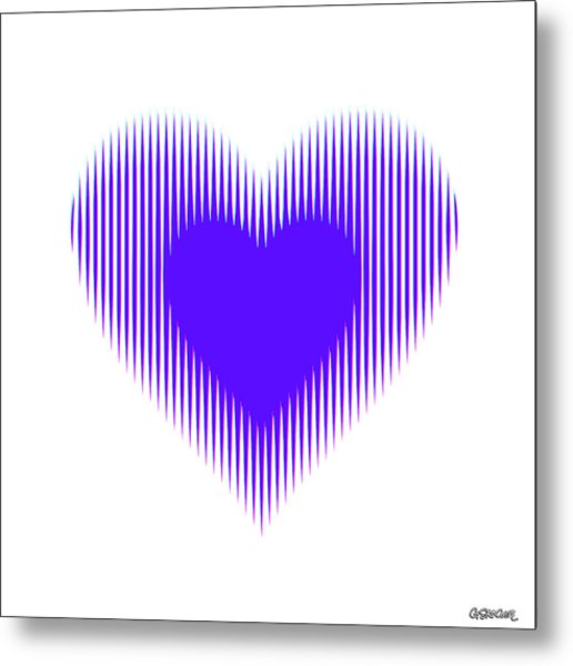 Expanding - Shrinking Heart Metal Print