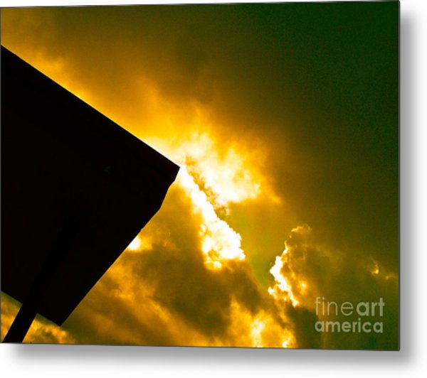 Expecting The Voice Of God At Any Moment Metal Print by Chuck Taylor