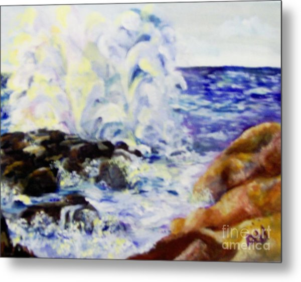 Metal Print featuring the painting Explode by Saundra Johnson