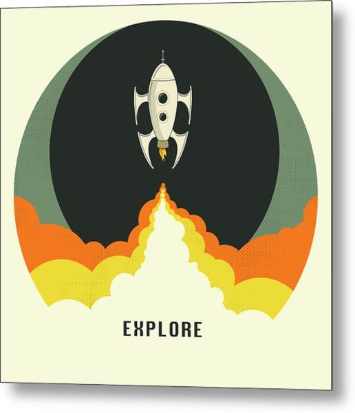 Explore Space Metal Print