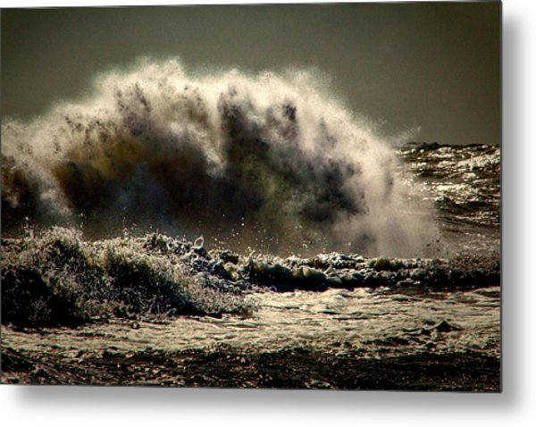Explosion In The Ocean Metal Print
