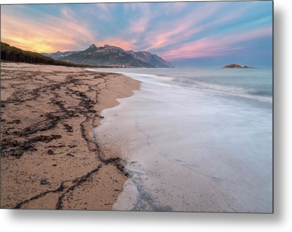Explosion Of Colors On The Beach Metal Print