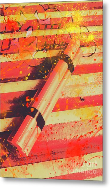 Explosive Comic Art Metal Print