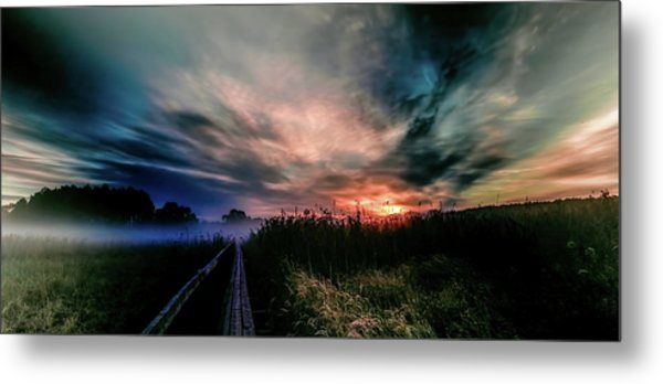Metal Print featuring the photograph Explosive Morning #h0 by Leif Sohlman
