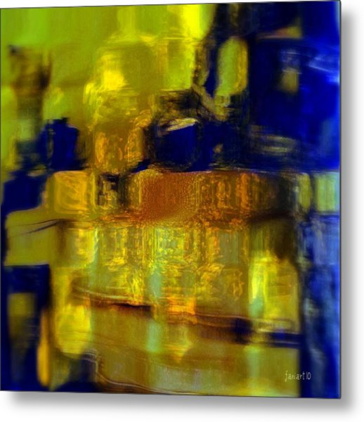 Exposed Brick And Paint Metal Print by Fania Simon