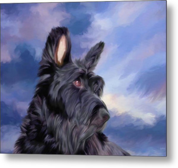 Expression Is Everything Scottish Terrier Dog Metal Print