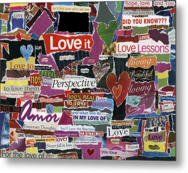 expression'd Love  Metal Print