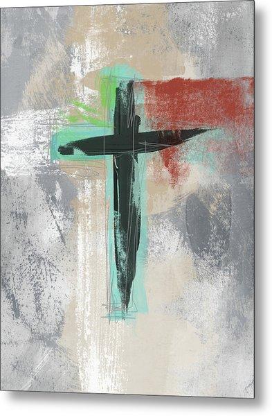 Expressionist Cross 3- Art By Linda Woods Metal Print