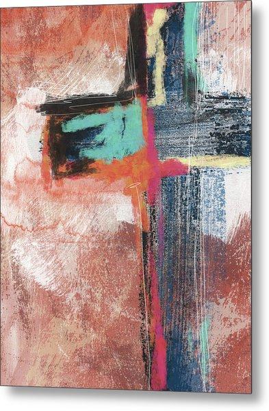 Expressionist Cross 5- Art By Linda Woods Metal Print