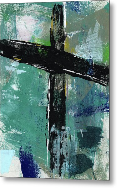 Expressionist Cross 8- Art By Linda Woods Metal Print