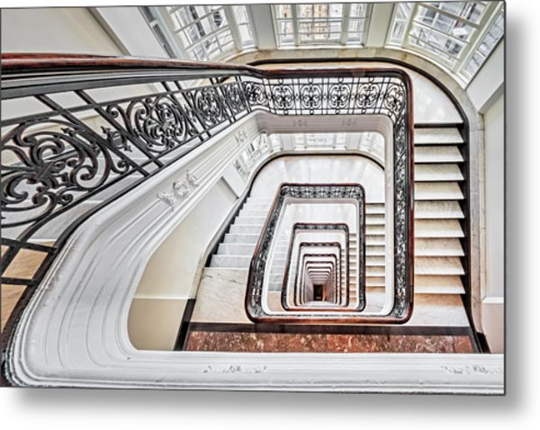 Metal Print featuring the photograph Exquisite Staircase Nyc  by Susan Candelario