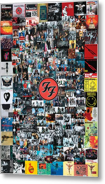 Extraordinary Hero Collage Metal Print