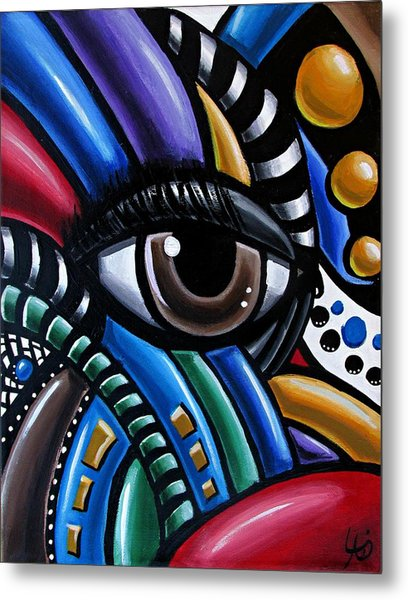 Eye Abstract Art Painting - Intuitive Chromatic Art - Pineal Gland Third Eye Artwork Metal Print