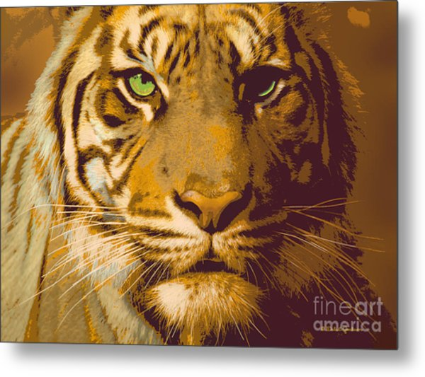 Eye Of The Tiger Animal Portrait  Metal Print