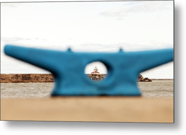 Eye On Oswego Lighthouse Metal Print