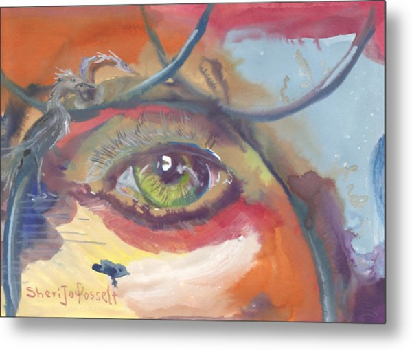 Eye See A Bird Metal Print