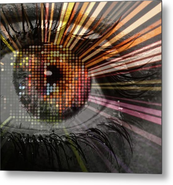 Eye Thoughts Metal Print by Katie Ransbottom