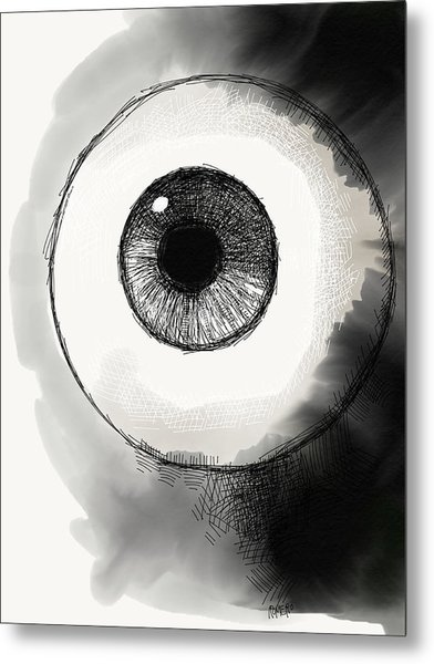 Eyeball Metal Print