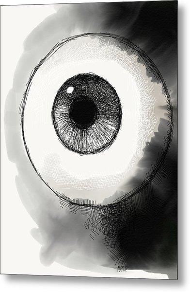 Metal Print featuring the digital art Eyeball by Antonio Romero