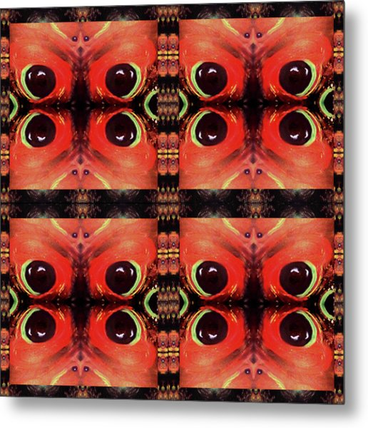 Metal Print featuring the painting Eyes 8 Four Square by Michelle Audas