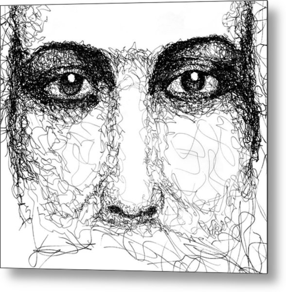 The Eyes Of Jesus Metal Print