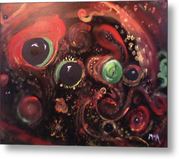 Metal Print featuring the painting Eyes Of The Universe # 5 by Michelle Audas