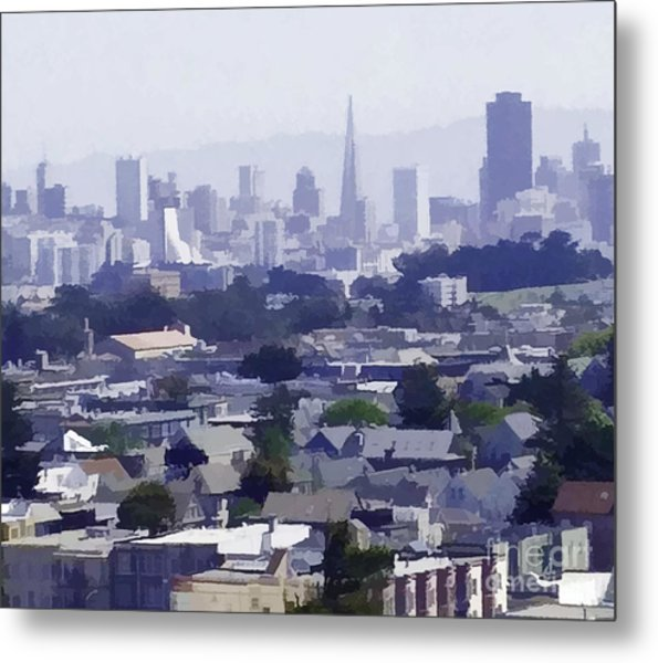 Looking East Toward San Francisco Metal Print