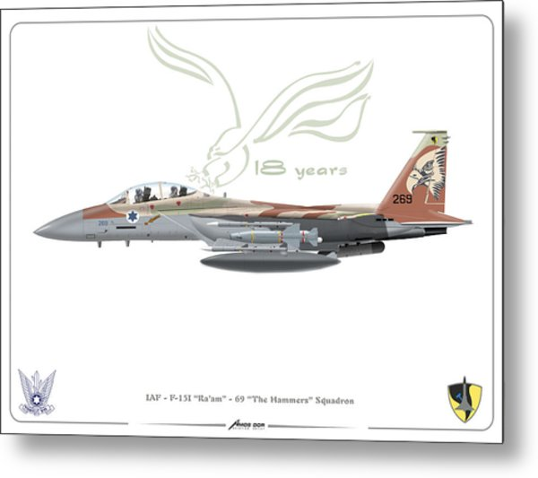 Israeli Air Force F 15i Ra'am Metal Print