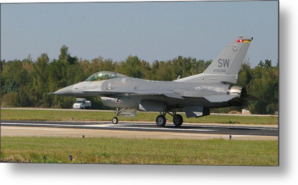F-16 Falcon Metal Print by Donald Tusa