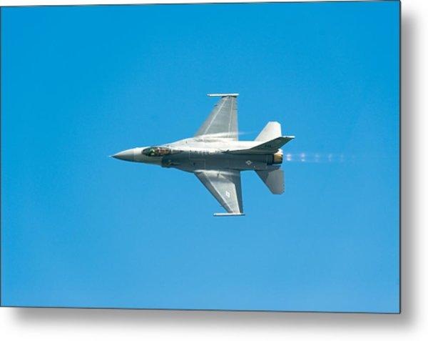 F-16 Full Speed Metal Print