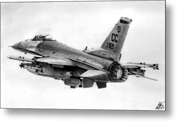 F-16 Metal Print