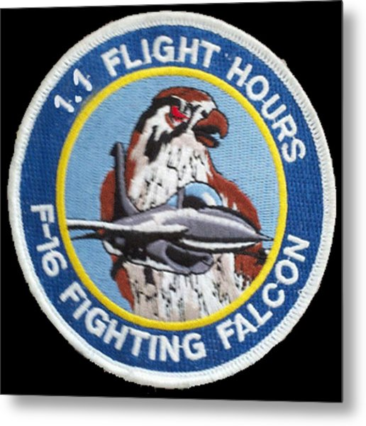 F-16 Ride Patch Metal Print