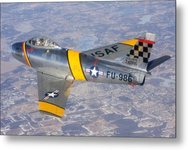 F-86 Sabre Flying 1 Metal Print